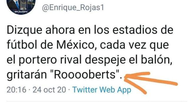 El futbol adopta a Roberts